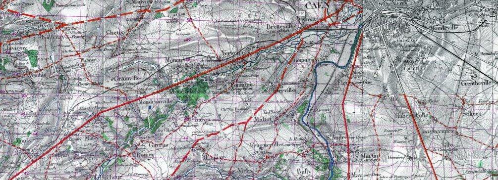 Carte des parcours UGGC